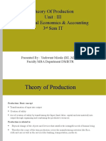 MEA Unit 3 Production Function