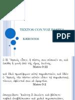 Textos y Ejercicios Con Voz Pasiva
