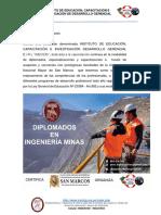 Diplomados en Ingeniería Minera