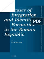 Processes of Integration and Identity Formation in the Roman Republic