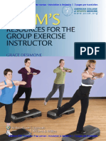 American College of Sports Medicine ACSMs Resources for the Group Exercise Instructor 2011