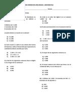Formativa Matematica 3ro Basico - Numeros Hasta El 1000