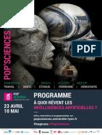 Programme Forum Pop'Sciences - A Quoi Revent Les Intelligences Artificielles