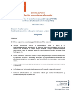 Plan de Estudios Diplomatura Español