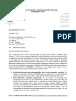 Carta de la Junta sobre la Autoridad de Acueductos y Alcantarillados (AAA)