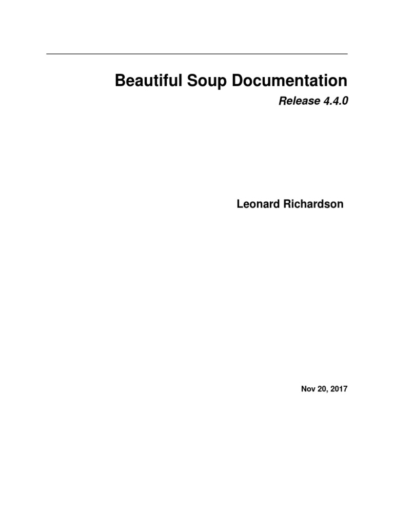 Beautiful Soup 4 | Html Element | Xml