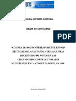 Bases de Concurso Compra de 800 Escaneres Portátiles