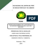 ESTRUCTURA NUMÉRICA DE LA ENTOMOFAUNA EN ESPECIES FORESTALES DEL VALLE DEL MANTAR