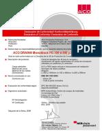 Certificado de Conformidade - ACO DRAIN Monoblock PD100 a 200 y RD 100 a 300 CE