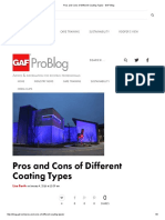 Pros and Cons of Different Coating Types - GAF Blog
