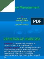 Invntory Control