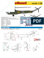 Sikorsky R-4B Hoverfly Helicopter Aircraft Paper Model
