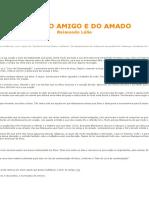 Livro Do Amigo e Do Amado - Raimundo Lúlio