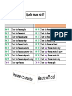 Horas en idioma Frances