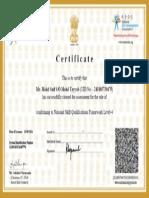 Nasscom Certificate Sample