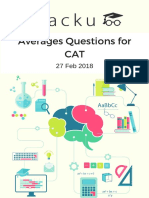 Averages Questions for CAT