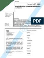 ABNT - NBR 13532 - Elaboração de Projetos de Edificações - 1995 Arquitetura