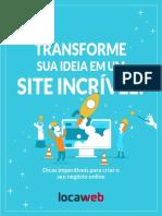 eBook Transforme Sua Ideia Site Incrivel