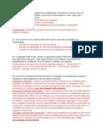 Linguagens de Programação exercícios respondidos