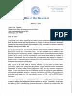 Letter to Justin Clark from Gov Brian Sandoval