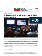 El Merval Extendió Su Rally Alcista_ Trepó Un 0,9% y Alcanzó Otro Récor - Ambito