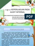 Aspek Keperilakuan Pada Audit Internal