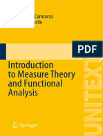 Piermarco Cannarsa, Teresa DAprile Auth. Introduction to Measure Theory and Functional Analysis