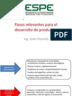Pasos Relevantes Para El Desarrollo de Productos