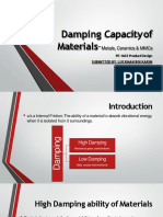 Damping Capacity of Materials-Metals, Ceramics & MMCs