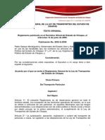 Reglamento General de La Ley de Transportes Del Estado de Chiapas
