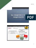 Tema 1 La Empresa y El Empresario
