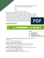 El Microcontrolador PIC16F887 Dispone de 256 Localidades de Memoria EEPROM Controlados Por Los Bits de Los Siguientes Registros