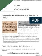 Composición de Una Invención en El Estilo de J. S. Bach (1) _ Contrapunto Paso a Paso