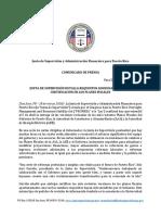 FOMB - Comunicado Público sobre Cambios Requeridos y Notificación de Violaciones Plan Ajuste Fiscal - 28 Mar 2018