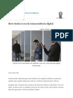 Bem-Vindos à Era Da Transcendência Digital - 28-01-2018 - Marcelo Gleiser - Folha
