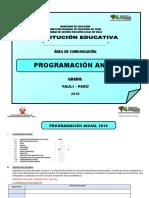 2018 Programacion Anual