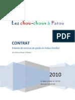 Entente de service de garde - Les chou-choux à Patou - Gabarit