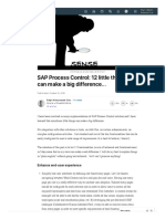 SAP Process Control_ 12 Little Things That Can Make a Big Difference... _ LinkedIn