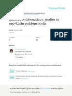 Mundus Emblematicus Studies in Neo-Latin Emblem