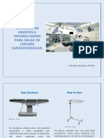 Catalogo de Equipos e Inmobiliarios Para Salas de Cirugía Cardiovascular