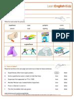 Reading Practice Superheroes Worksheet v2