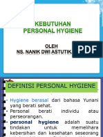 3. Kebutuhan Personal Hygiene