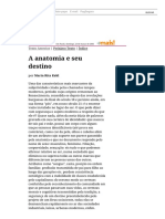 Folha de S.paulo - Maria Rita Kehl_ a Anatomia e Seu Destino - 25-03-2001