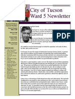 City of Tucson Ward 5 Newsletter - March 2018