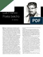 Luis Franco,Poeta Belicho