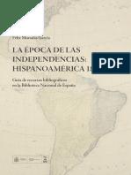 Bibliografia Independencia Hispanoamericana