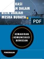 Komunikasi Berkesan Dalam Bilik Darjah Mesra Budaya