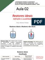 Aula 2 - Reatores Ideais