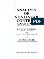 Analysis of Nonlinear Control Systems by Graham and McRuer