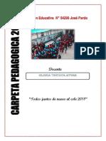Carpeta Pedagogica 2018 Jose Pardo